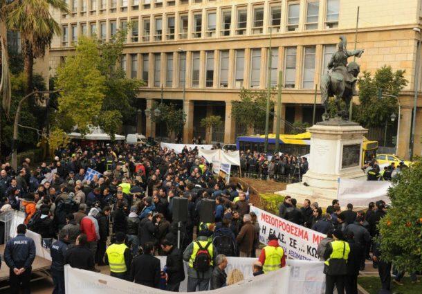 Ένστολη Πανελλαδική Συγκέντρωση Διαμαρτυρίας Τρίτη 28/2/2012, Πλατεία Κολοκοτρώνη-Αθήνα