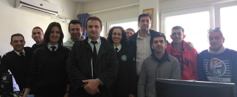 Επίσκεψη Προέδρου ΠΟΕΠΛΣ & Δ.Σ. της ΕΠΛΣ Κεντρικής Μακεδονίας στις Λιμενικές Αρχές Κατερίνης-Πλαταμώνα
