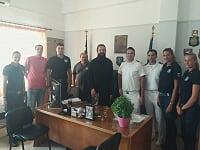 Επίσκεψη στρατιωτικού Ιερέα και αγιασμός σε Λιμ. Αρχές Κεφαλληνίας & Ιθάκης