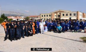 Εντυπωσίασε η άσκηση απορρύπανσης του Λιμεναρχείου Χίου