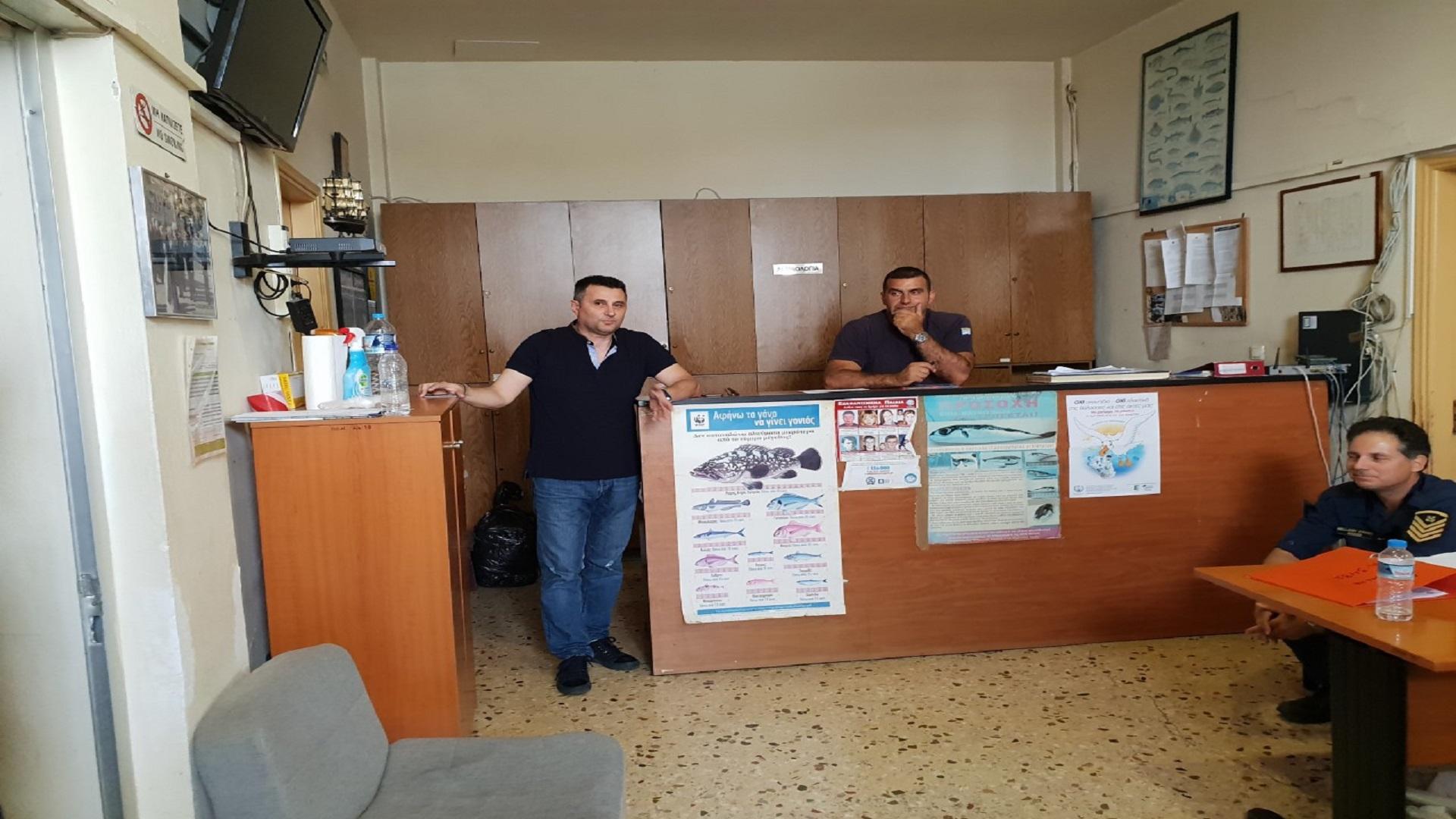 Επίσκεψη Προεδρείου ΠΟΕΠΛΣ στη Λιμενική Αρχή Γυθείου