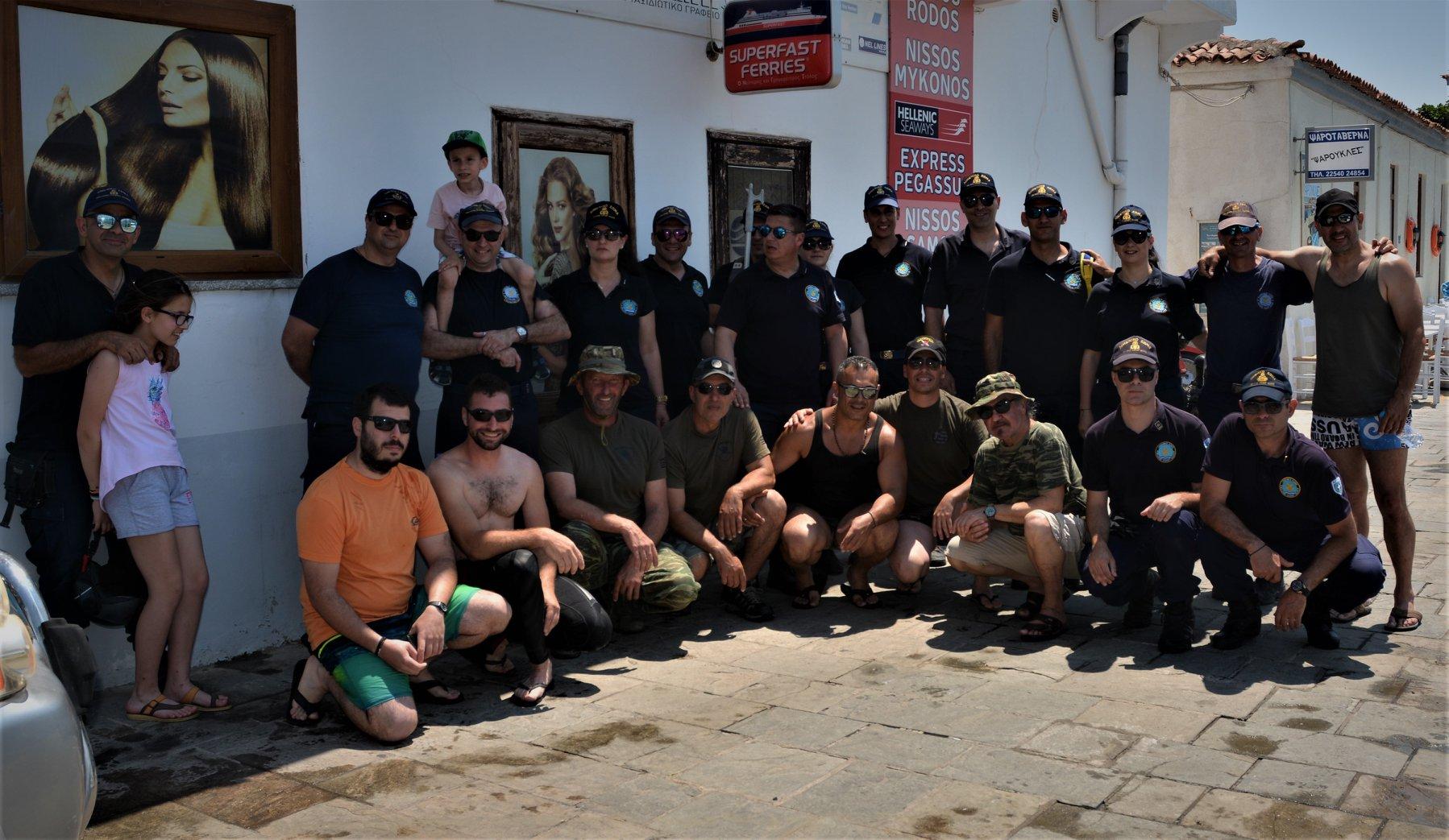 Καθαρισμός αλιευτικού καταφυγίου Μύρινας
