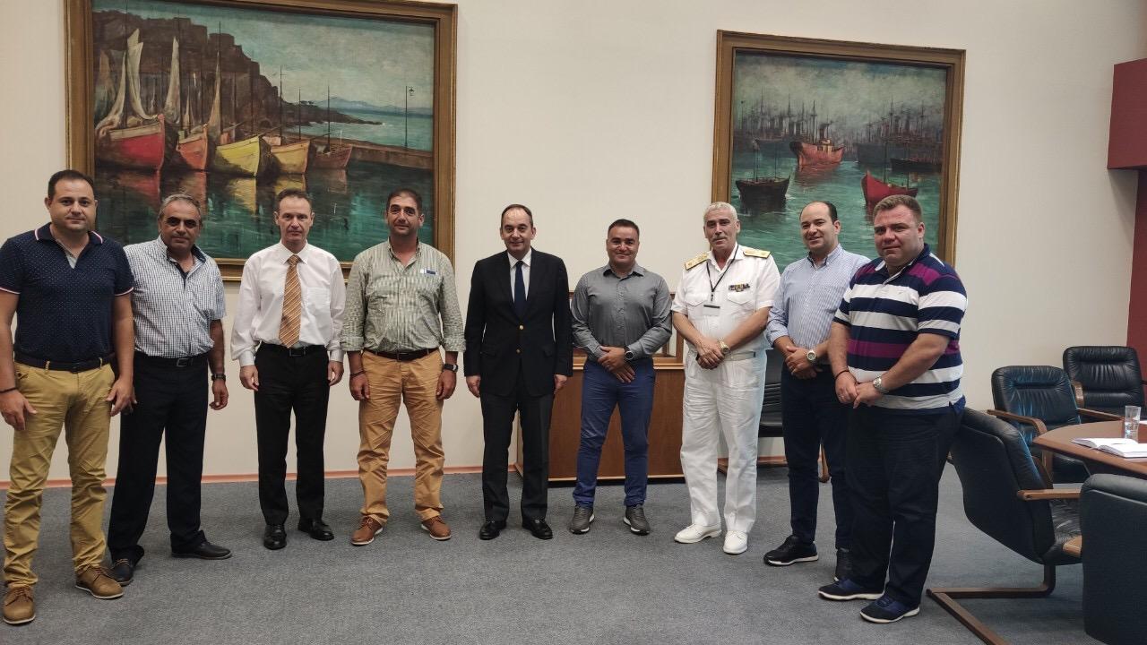 Συνάντηση Υπουργού Ναυτιλίας & Νησιωτικής Πολιτικής με ΕΠΛΣ Ανατολικής Κρήτης