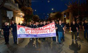 Φωτογραφίες από την ένστολη συγκέντρωση διαμαρτυρίας στη Θεσσαλονίκη