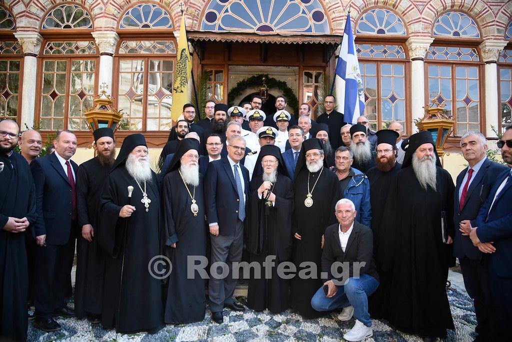 Ο Οικουμενικός Πατριάρχης στο Άγιον Όρος – Υποδοχή στην Μονή Ξενοφώντος