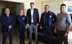Το Λιμεναρχείο Κυλλήνης επισκέφθηκε ο Διονύσης Καλαματιανός