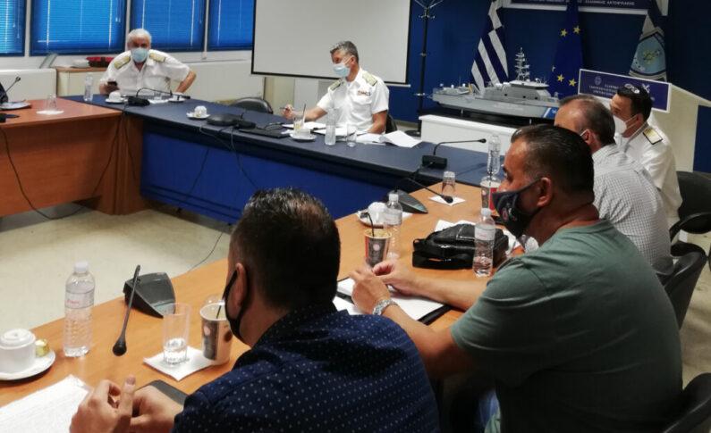 Συνάντηση ΠΟΕΠΛΣ  με Α/Λ.Σ.-ΕΛ.ΑΚΤ. Αντιναύαρχο Λ.Σ. Κλιάρη Θ.